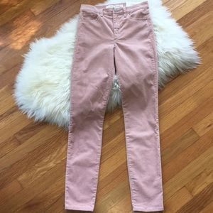 Gap Velvet Super High Rise Stretch True Skinny